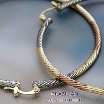 Gold Plated Women Extra Large Hoop, by Folks Jewelry