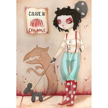 Coulrophobia III Art Print by Artist Terra Bidlespacher