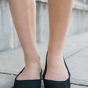 Casual Charm Flats - Black