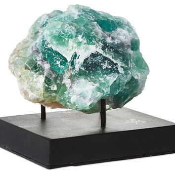 "5"" Green Fluorite on Stand, Rocks, Crystals, Minerals & Petrified Wood"