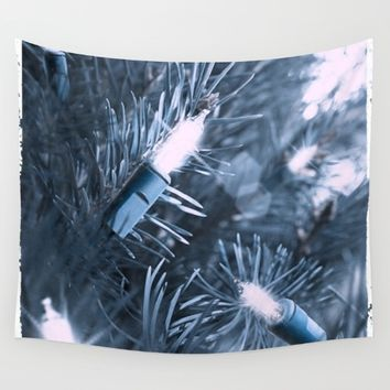 BLUE SPRUCE Wall Tapestry by Jessica Ivy