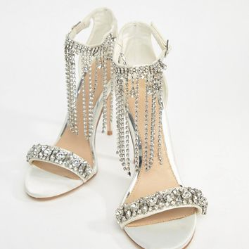 ASOS HONOR Premium Bridal Embellished Heeled Sandals at asos.com
