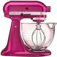 Kitchen Aid hot pink raspberry ice mixer - Google Images