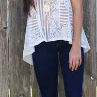 Lacy Necklace Tank