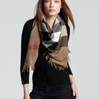 Burberry Color Check Wool Scarf | Bloomingdales's