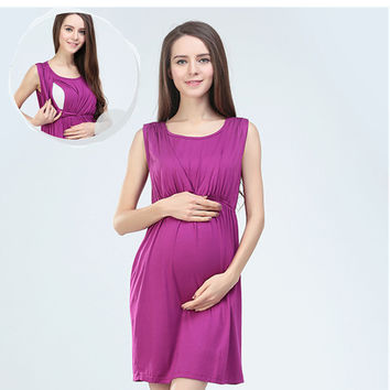 Summer Cotton Maternity Dress gravida Nursing Dresses Breast Clothes For Pregnant Women Maternidade Pregnancy Feeding Clothing