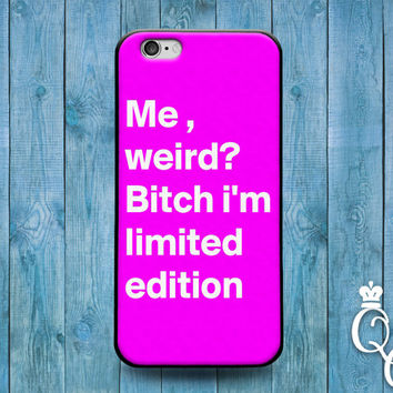 iPhone 4 4s 5 5s 5c 6 6s plus + iPod Touch 4th 5th 6th Generation Cute Pink Quote Weird Custom White Word Phone Cover Funny Girly Girl Case