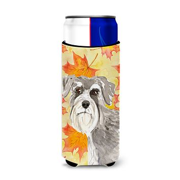 Fall Leaves Schnauzer #1 Michelob Ultra Hugger for slim cans CK1829MUK