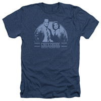Law & Order: SVU Elliot&Amp;Olivia Navy Heathered Duo-Blend T-Shirt