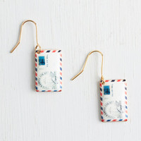 ModCloth Quirky Postage Do Earrings
