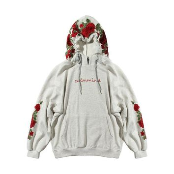 Hoodies Floral Hats Winter Heavy Work Pullover Jacket [266885955613]