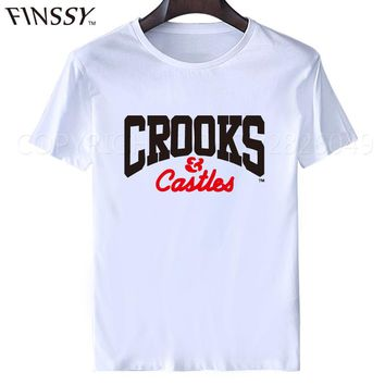 2017 New Crooks And Castles T Shirt Men Short Sleeve Hip Hop Shirt Short Sleeve Fashion Crooks T Shirts Free Shipping