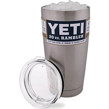 YETI Rambler 20 Ounce Tumbler With Lid, 18/8 Double Wall Stainless Steel
