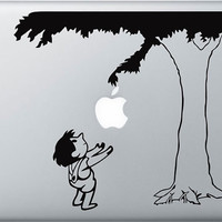 Mac Decal Macbook Stickers Macbook Decals Apple Decal for Macbook Pro / Macbook Air / iPad / iPad2 / The New ipad/iPhone 4 -- Boy & Tree