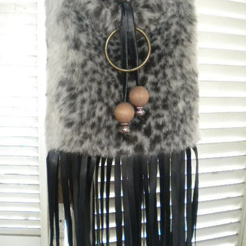 Sling and Fringed  Crossbody Shoulder Travel by maycascollection