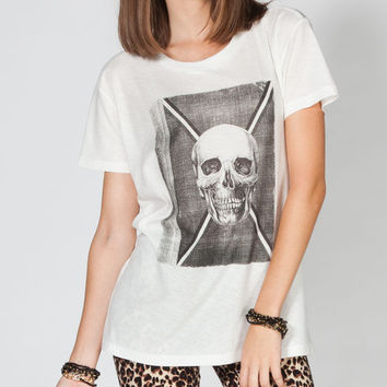 Rvca Cover Womens Tee Cream  In Sizes