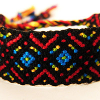 Tribal Multicolor Macrame Friendship Bracelet - Boho Style Jewellery with Bright Colours - Great Gift for Stylish Best Friends