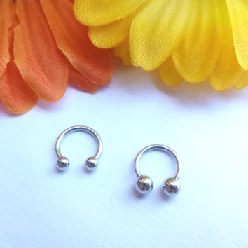 16g Septum Ring Horseshoe Ring 316lvm Surgical Steel