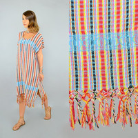 Woven FRINGED Tunic Dress