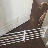Dog Door Fence Playpen for Dogs Pet Gate Indoor Retractable Pet Isolating Gate Room Plastic Dog Fences Baby Gate Baby Stair