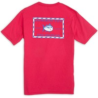 Original Skipjack Tee Shirt in Port Side Red by Southern Tide
