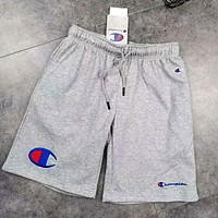 Champion tide brand men's and women's cotton casual shorts grey