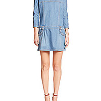 See by Chloe - Drop-Waist Denim Dress - Saks Fifth Avenue Mobile