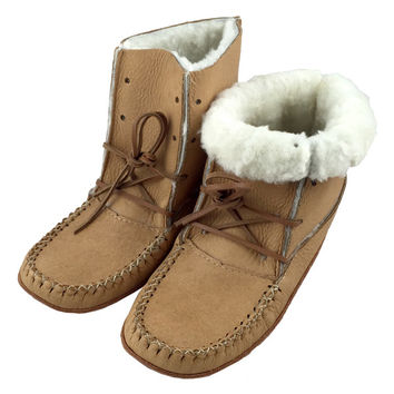 Women's Moosehide Sheepskin Boots B41719