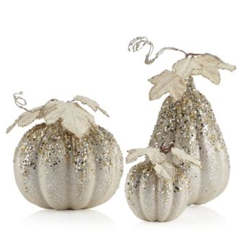 Beaded Pumpkins & Gourds | FW15 Entertaining4 | Entertaining | Inspiration | Z Gallerie