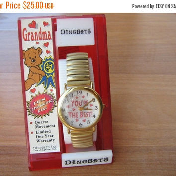 SALE Dingbats wristwatch fun changing dial for Grandma