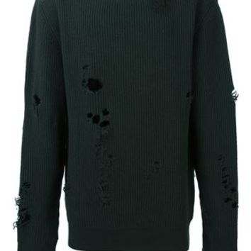 Yeezy Adidas Originals By Kanye West Distressed Sweater - Voga - Farfetch.com