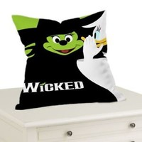 "Wicked Mickey Green Skin Throw Pillow Case Cushion 16 ""18"" 20"" Cover"