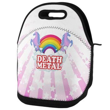 PEAPGQ9 Death Metal Rainbow Lunch Tote Bag