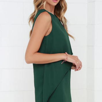 Give a Little Love Dark Green Dress