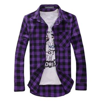 Flannel-ish Plaid Shirts, Perfect for Fall, All Colors & Sizes