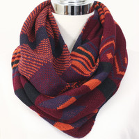 Tribal Sweater Scarf Wine » Vertage Clothing