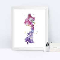 Megara Print Hercules Art Megara Art Nursery Disney Princess Hercules Print Disney wall art Baby shower gift Watercolor instant download