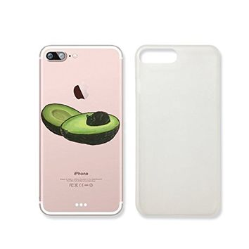 Cute Avocado Cat Slim Iphone 7 Case, Clear Iphone 7 Hard Cover Case For Apple Iphone 7 -Emerishop (VAE256.7sl)