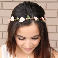 Peach Wild Flower Headband