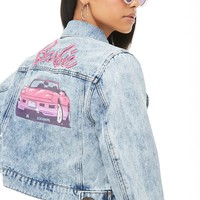 Acid Wash Barbie Denim Jacket
