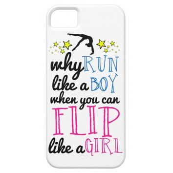 Flip Like a Girl Empowerment Gymnastics iPhone 5 Cover
