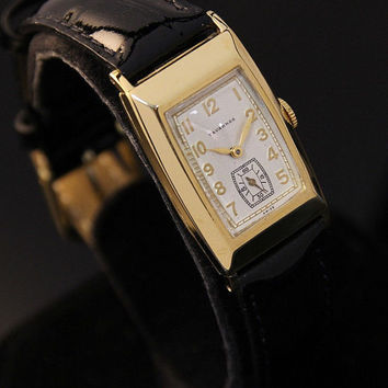 Vintage 1960's Tavannes Gold Plated Swiss Manual Wind Rare Dress Watch
