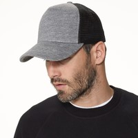 DOUBLE FACE KNIT TRUCKER HAT | James Perse Los Angeles
