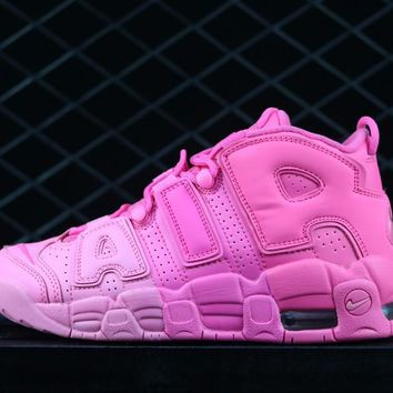 Girls Nike Air More Uptempo All Pink In Womens Size 415082-036 - Beauty Ticks