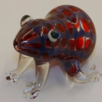 Red Blue Frog Animal Pipe