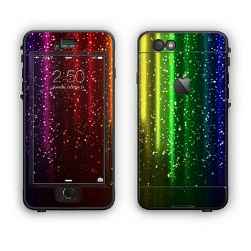 The Neon Glowing Rain Apple iPhone 6 Plus LifeProof Nuud Case Skin Set