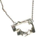 sterling silver handmade abstract pendant