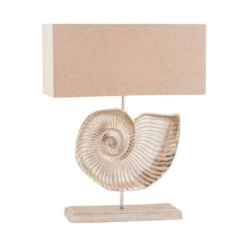 Nautilus 1 Light Table Lamp In Textured Nickel Textured Nickel