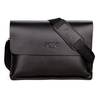 men leather messenger bags, high quality polo bag fashion men's travel bags