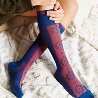 Nordic Blocked Knee-High Sock